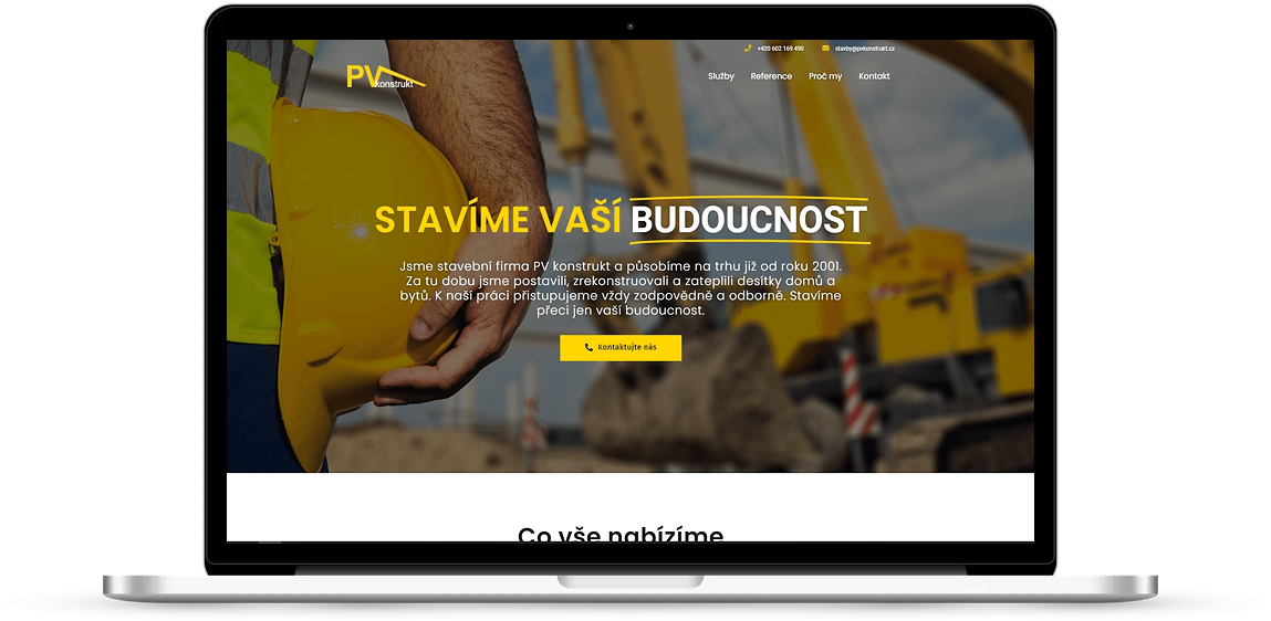 Ukázka webových stránek PV-konstrukt