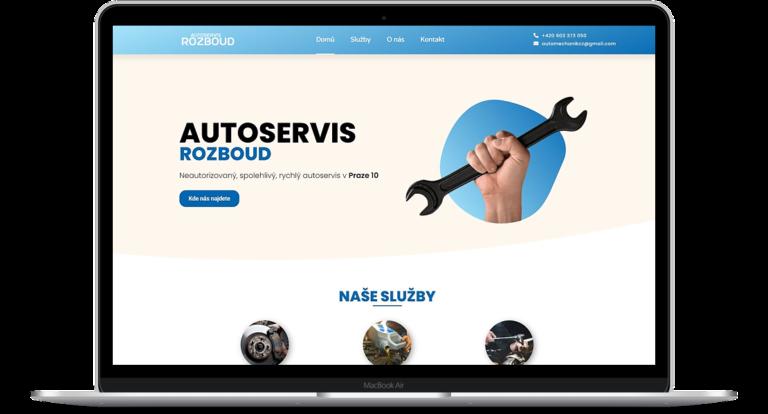 Ukázka webových stránek Autoservis-rozboud