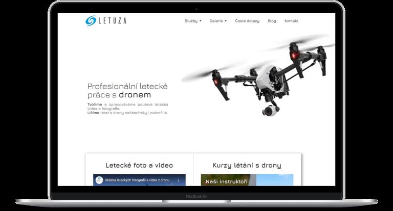 Ukázka webových stránek Letuza.cz